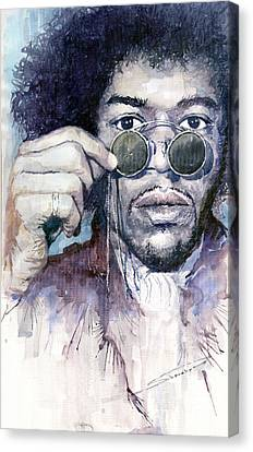 Jimi Hendrix 08 Canvas Print by Yuriy  Shevchuk