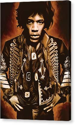 Jimi Hendrix Artwork Canvas Print by Sheraz A