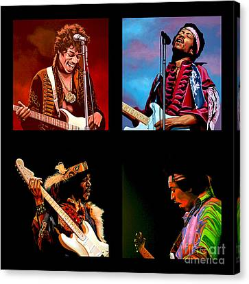 Jimi Hendrix Collection Canvas Print by Paul Meijering