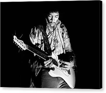 Jimi Hendrix Live 1967 Canvas Print by Chris Walter