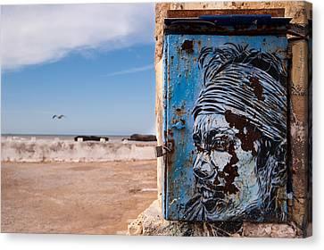 Jimi Hendrix On The Beach Canvas Print by Daniel Kocian