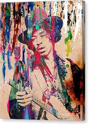 Jimi Hendrix Original Canvas Print by Ryan Rock Artist