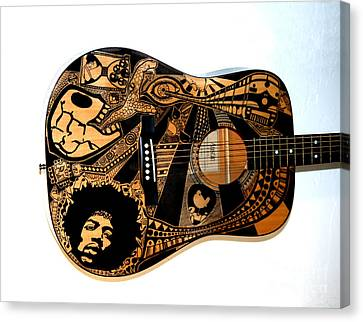 Jimi's Guitar Canvas Print by The Art Of Rido