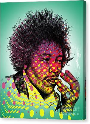 Jimmie Hendrix  Canvas Print by Mark Ashkenazi