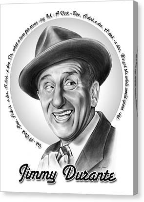 Jimmy Durante Canvas Print by Greg Joens