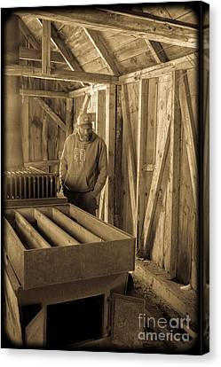 Jimmy In The Old Mt. Cube Sugar House Canvas Print by Edward Fielding