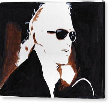 Jimmy Page 2 Canvas Print by Audrey Pollitt