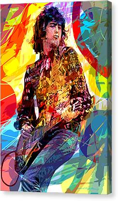 Jimmy Page Leds Lead Canvas Print by David Lloyd Glover