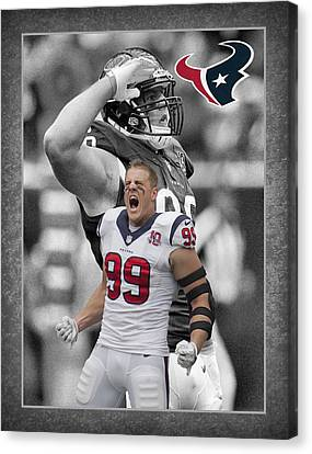 Jj Watt Texans Canvas Print by Joe Hamilton