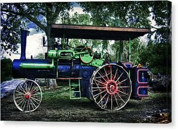 Jl Case Steam Tractor Canvas Print by F Leblanc
