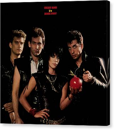 Joan Jett - Cherry Bomb 1984 - Back Cover Canvas Print by Epic Rights
