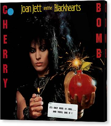 Joan Jett - Cherry Bomb 1984 Canvas Print by Epic Rights