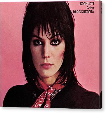 Joan Jett - Crimson And Clover 1982 - Back Cover Canvas Print by Epic Rights