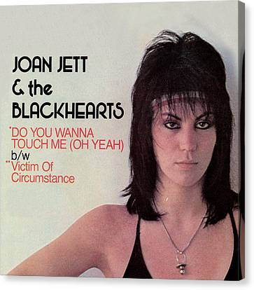 Joan Jett - Do You Wanna Touch Me 1982 Canvas Print by Epic Rights