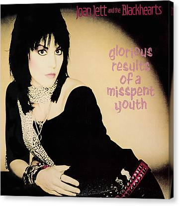 Joan Jett - Glorious Results Of A Misspent Youth 1984 Canvas Print by Epic Rights