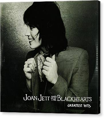 Joan Jett - Greatest Hits 2010 Canvas Print by Epic Rights