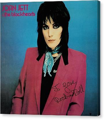 Joan Jett - I Love Rock 'n Roll 1981 Canvas Print by Epic Rights
