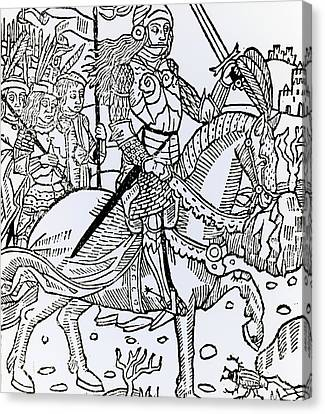 Joan Of Arc Canvas Print by French School