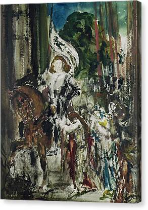 Joan Of Arc Canvas Print by Gustave Moreau