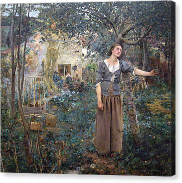 Joan Of Arc Canvas Print by Jules Bastien-Lepage