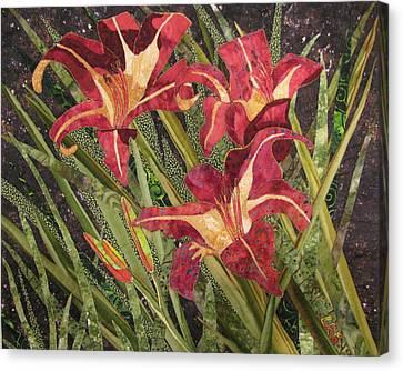 Joan's Daylilies Canvas Print by Lynda K Boardman