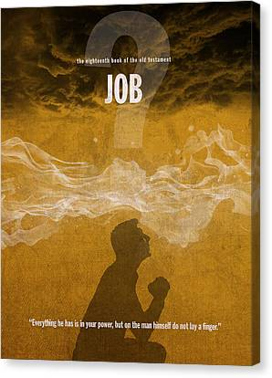 Job Books Of The Bible Series Old Testament Minimal Poster Art Number 18 Canvas Print by Design Turnpike