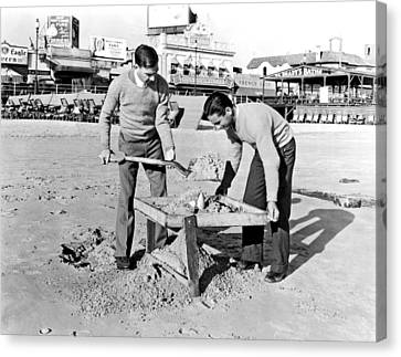 Jobless College Graduates Join The Ranks Of Beachcombers In Atla Canvas Print by Underwood Archives