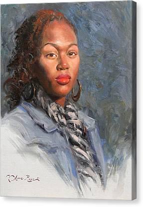 Jocelyn Canvas Print by Anna Rose Bain
