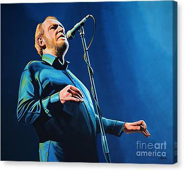 Joe Cocker Painting Canvas Print by Paul Meijering