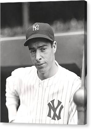Joe Dimaggio Hand On Hip Canvas Print by Retro Images Archive
