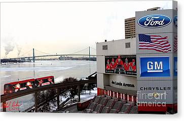 Joe Louis Arena Canvas Print by Michael Rucker