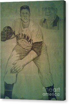 Joe Nuxhall Canvas Print by Christy Saunders Church