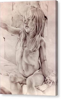 Joey Canvas Print by Julie Orsini Shakher