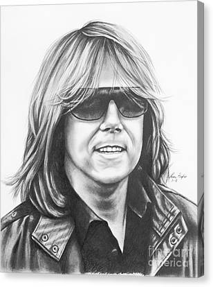 Joey Tempest Canvas Print by Lena Auxier