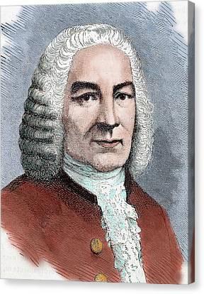 Johann Sebastian Bach (eisenach Canvas Print by Prisma Archivo