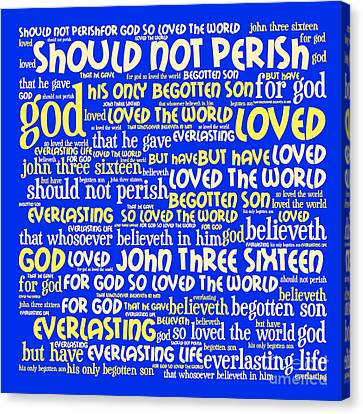 John 3-16 20130622 Canvas Print by Wingsdomain Art and Photography