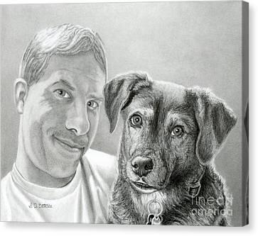 John And Howie Canvas Print by Sarah Batalka