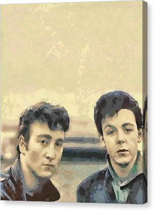 John And Paul When It All Started Canvas Print by Paulette B Wright