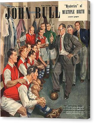 John Bull 1947 1940s Uk  Arsenal Canvas Print by The Advertising Archives