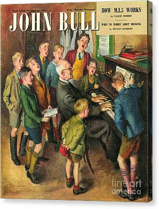 John Bull 1948 1940s Uk School Concerts Canvas Print by The Advertising Archives