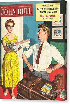 John Bull 1950s Uk Holidays Packing Canvas Print by The Advertising Archives