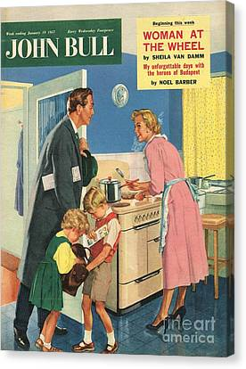 John Bull 1957 1950s Uk Cooking Canvas Print by The Advertising Archives
