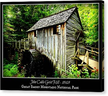 John Cable Grist Mill - Poster Canvas Print by Stephen Stookey