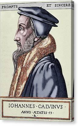 John Calvin (1509-1564 Canvas Print by Prisma Archivo