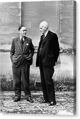 John Cockroft And Frederick Lindemann Canvas Print by Emilio Segre Visual Archives/american Institute Of Physics