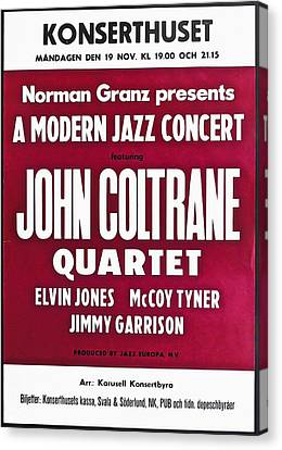 John Coltrane Quartet In Sweden Canvas Print by Digital Reproductions
