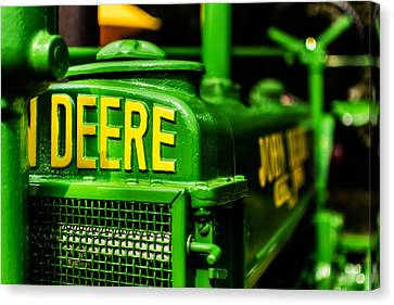 John Deere 1935 General Purpose Tractor Grill Detail Canvas Print by Jon Woodhams
