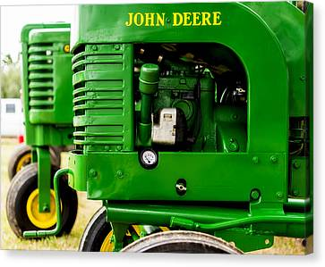 John Deere Model L With Model G Behind Canvas Print by Jon Woodhams