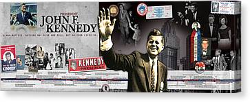 John F. Kennedy Timeline Panorama Canvas Print by Retro Images Archive