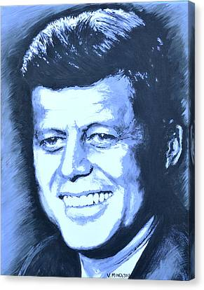 John F. Kennedy Canvas Print by Victor Minca